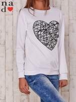 Biała bluza z nadrukiem serca                                  zdj.                                  4