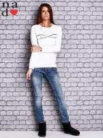 Biała bluza z napisem LOVE                                  zdj.                                  2