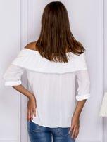 Biała bluzka hiszpanka z podwijanymi rękawami                                  zdj.                                  2