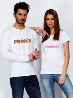 Biała bluzka męska PRINCE z nadrukiem dla par                                  zdj.                                  3