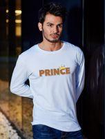 Biała bluzka męska dla par z długim rękawem PRINCE                                  zdj.                                  1