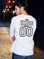 Biała bluzka męska dla par z nadrukiem KING na plecach                                  zdj.                                  1