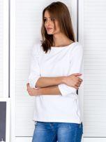 Biała bluzka z bocznymi suwakami                                  zdj.                                  3