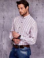 Biała koszula męska w kratkę PLUS SIZE                                  zdj.                                  3