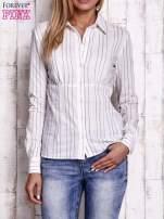 Biała koszula w delikatne prążki                                  zdj.                                  1