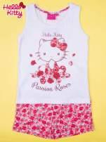 Biała piżama dla dziewczynki z różanymi motywami HELLO KITTY                                  zdj.                                  1