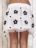 Biała spódnica mini w kwiaty                                  zdj.                                  5