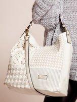 Biała torba z motywem plecionki                                  zdj.                                  2