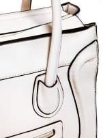 Biała trapezowa torba miejska                                  zdj.                                  5