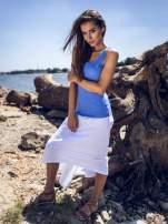Biała zwiewna spódnica z dłuższym tyłem                                  zdj.                                  4
