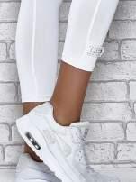 Ciemnogranatowe legginsy sportowe termalne z patką z dżetów                                                                          zdj.                                                                         6
