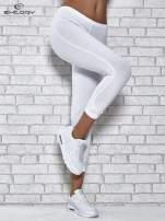 Ciemnofioletowe legginsy sportowe z patką z dżetów na dole                                                                          zdj.                                                                         1