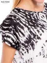 Biało-czarna koszula w geometryczny wzór                                  zdj.                                  5