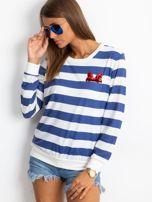 Biało-niebieska bluzka Athena                                  zdj.                                  5