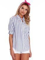 Biało-niebieska koszula w paski                                  zdj.                                  1