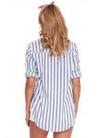 Biało-niebieska koszula w paski                                  zdj.                                  2