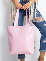 Biało-różowa torba w egzotyczne wzory                                  zdj.                                  8