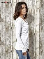 Biały sweter z kapturem zasuwany na suwak Funk n Soul                                  zdj.                                  3
