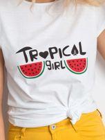 Biały t-shirt Perfectly                                  zdj.                                  5
