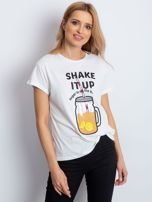 Biały t-shirt SHAKE IT UP                                  zdj.                                  1