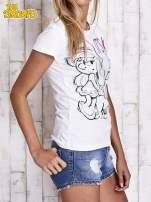 Biały t-shirt SMERFY                                  zdj.                                  4