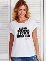 Biały t-shirt damski BLOND I CZARNULA by Markus P                                  zdj.                                  1