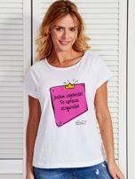 Biały t-shirt damski JESTEM ZAJEBISTA! by Markus P                                  zdj.                                  1
