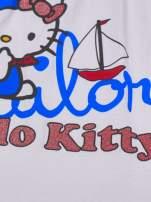 Biały t-shirt dla dziewczynki HELLO KITTY                                  zdj.                                  4