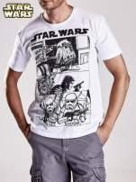 Biały t-shirt męski STAR WARS                                  zdj.                                  4