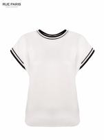 Biały t-shirt w stylu tenis chic