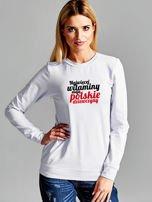 Bluza NAJWIĘCEJ WITAMINY MAJĄ POLSKIE DZIEWCZYNY jasnoszara
