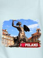 Bluza damska I LOVE POLAND z nadrukiem Warszawy miętowa                                  zdj.                                  2