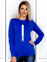 Bluza damska RAK znak zodiaku kobaltowa                                  zdj.                                  1