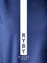 Bluza damska RYBY znak zodiaku granatowa                                  zdj.                                  2