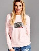 Bluza damska patriotyczna PATRIOTKA z nadrukiem różowa                                  zdj.                                  1