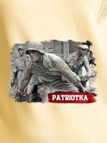 Bluza damska patriotyczna PATRIOTKA z nadrukiem żółta                                  zdj.                                  2