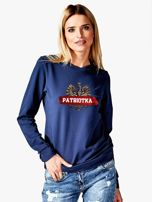 Bluza damska patriotyczna z Orłem Białym PATRIOTKA granatowa                                  zdj.                                  1