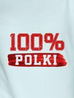 Bluza damska patriotyczna z nadrukiem 100% POLKI miętowa                                  zdj.                                  2