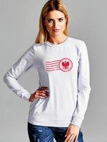Bluza damska patriotyczna z nadrukiem Orła Białego jasnoszara