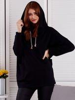 Bluza damska z kolorowymi troczkami czarna                                  zdj.                                  1