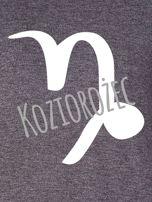 Bluza damska z motywem znaku zodiaku KOZIOROŻEC ciemnoszara                                  zdj.                                  2