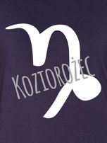 Bluza damska z motywem znaku zodiaku KOZIOROŻEC grafitowa                                  zdj.                                  2