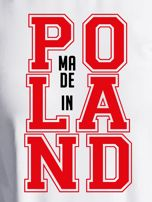 Bluza damska z nadrukiem MADE IN POLAND ecru                                  zdj.                                  2