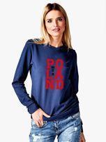 Bluza damska z nadrukiem MADE IN POLAND granatowa                                  zdj.                                  1