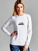 Bluza damska z nadrukiem znaku zodiaku LEW jasnoszara                                  zdj.                                  1