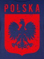 Bluza patriotyczna POLSKA z nadrukiem Orła Białego granatowa                                  zdj.                                  2