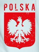 Bluza patriotyczna POLSKA z nadrukiem Orła Białego miętowa                                  zdj.                                  2