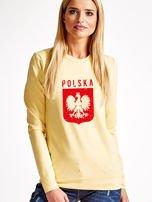 Bluza patriotyczna POLSKA z nadrukiem Orła Białego żółta                                  zdj.                                  1