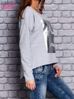 Bluza z motywem gwiazdy jasnoszara                                  zdj.                                  3
