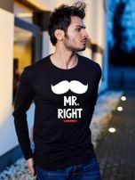 Bluzka czarna męska hipster MR. RIGHT dla par                                  zdj.                                  1